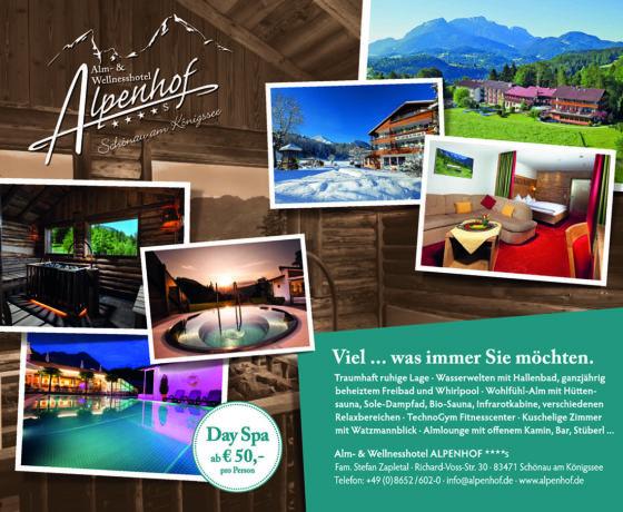 Alm und Wellnesshotel Alpenhof, Wellness, Hotel, Schönau am Königssee