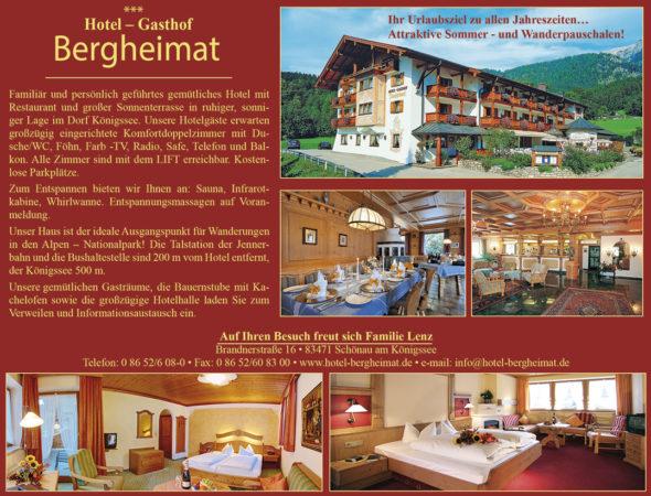 Hotel Gasthof Bergheimat, Restaurant, Gasthof, Schönau am Königssee