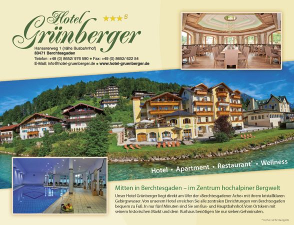Hotel Grünberger, Berchtesgaden, Hotel, Unterkunft, Restaurant