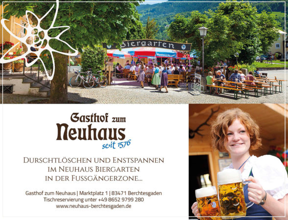 Gasthof zum Neuhaus, Biergarten, Gasthaus, Wirtshaus, Restaurant, Berchtesgaden