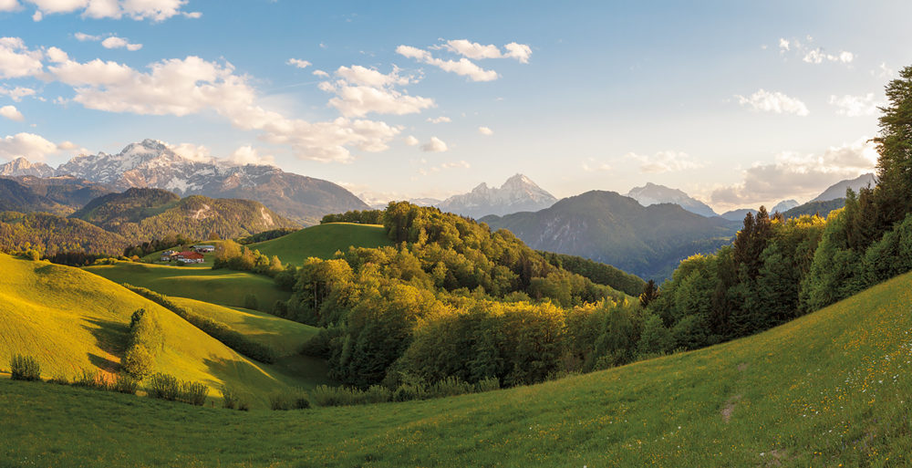 Panorama Watzmann, Scheffau, Berchtesgaden,