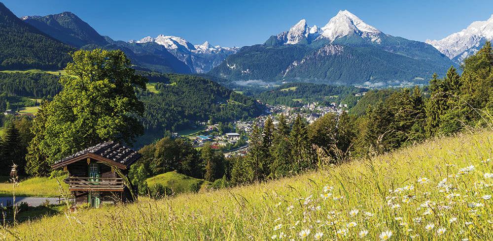Berchtesgaden, Watzmann, Maria Gern, Berchtesgadener Land, Nationalpark Berchtesgaden, Hausknechtlehen